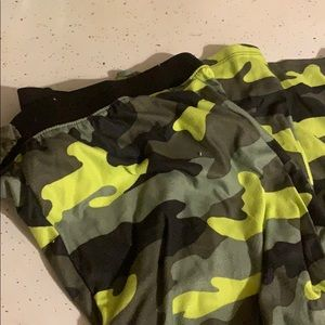 Boys Camo Fleece PJ Bottoms
